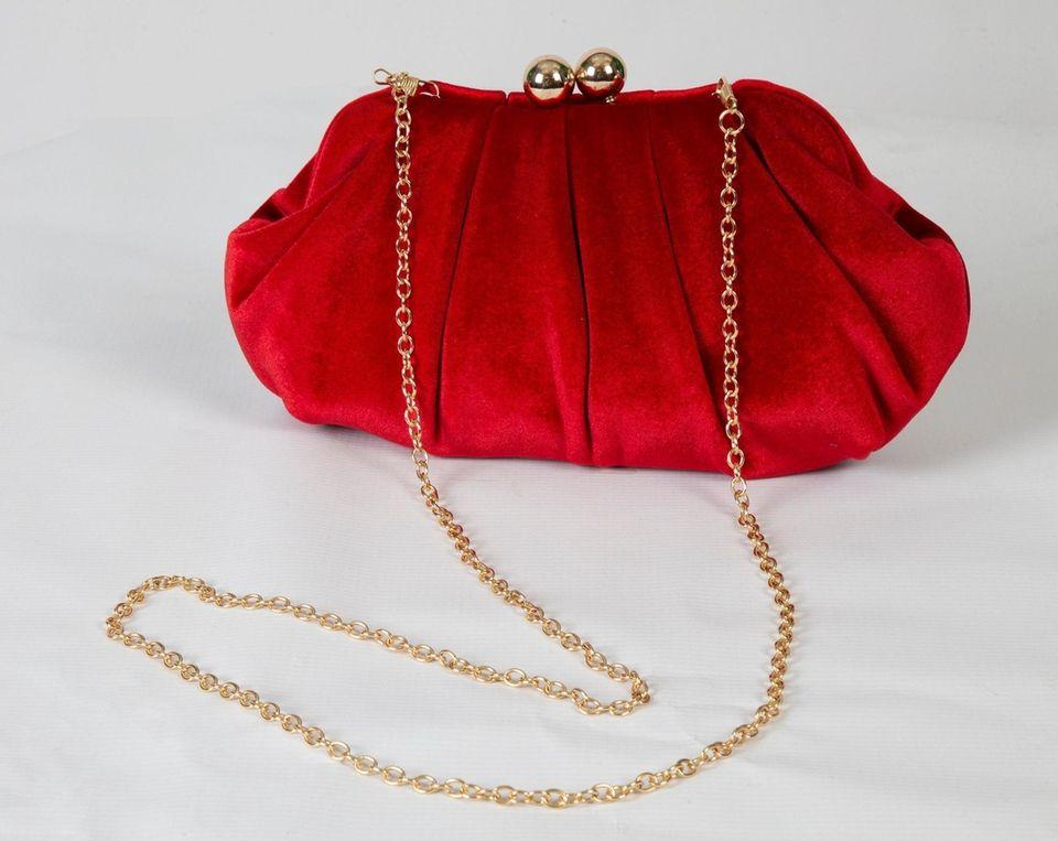 Red velvet bag, $42 at Bubble East in