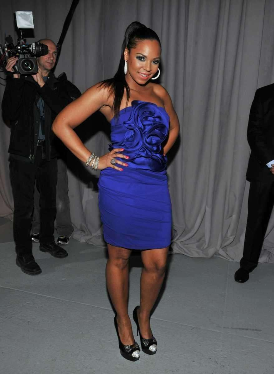 Ashanti attends the Marchesa Fall 2011 presentation during