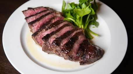 The 14-oz. prime sirloin highlights the steaks at