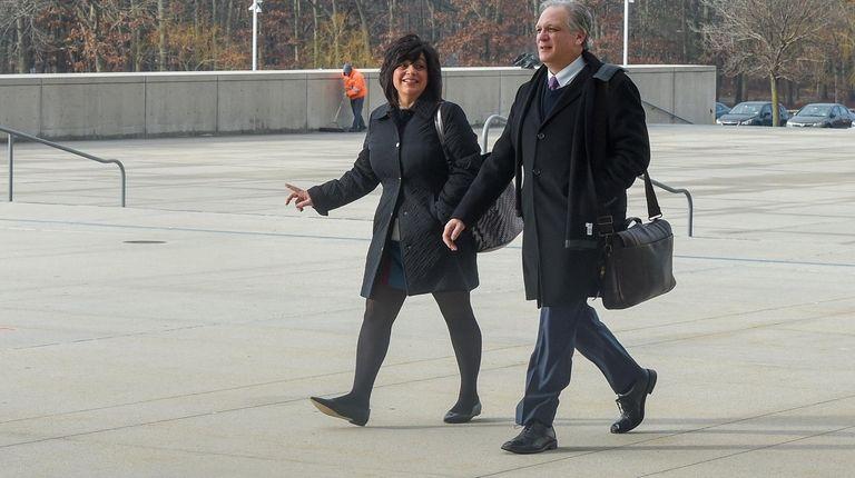 Linda Mangano and former Nassau County Executive Edward