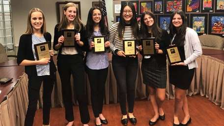 Six students were named best-in-category winners in this