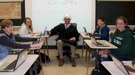 Westhampton Beach Middle School students put their knowledge