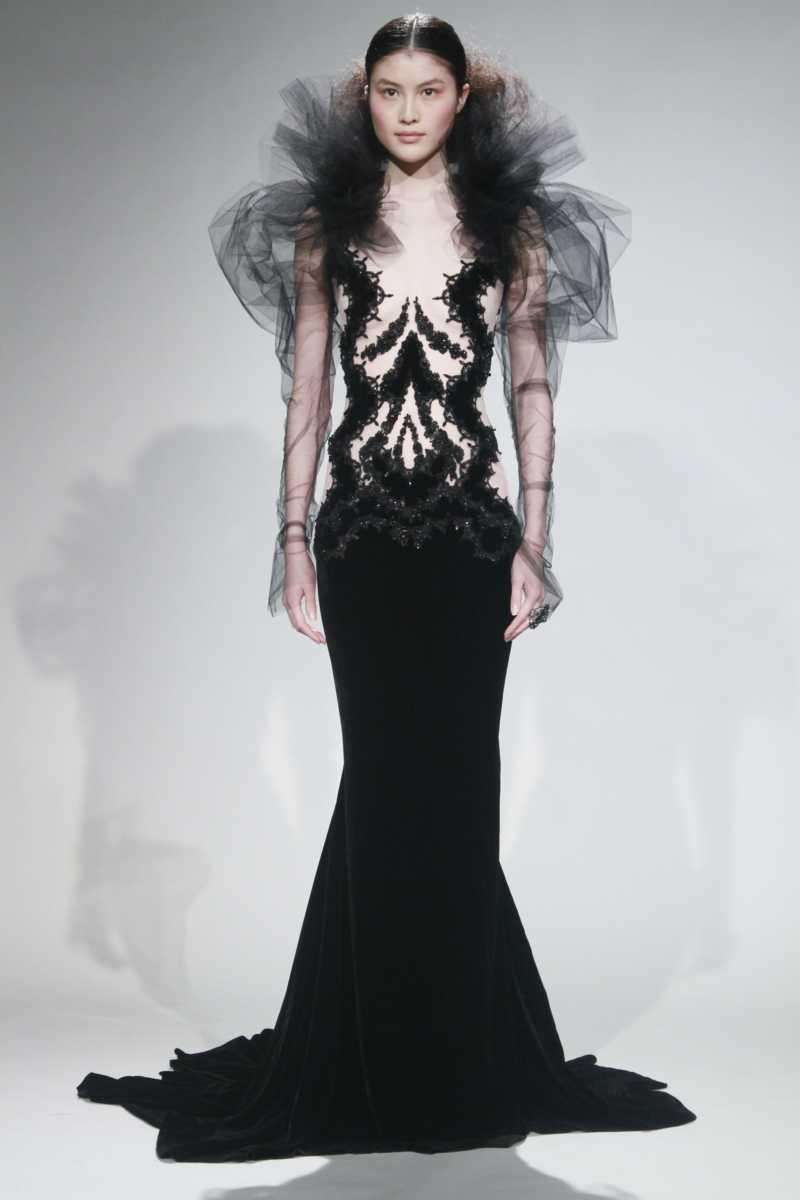 Fashion from the fall 2011 Marchesa collection is