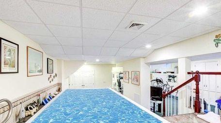 The basement pool.