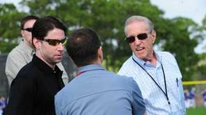 Jeff and Fred Wilpon during today's arrive at