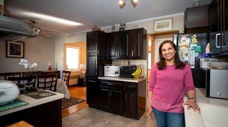 Farheen Gaffar in her kitchen.
