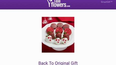 The SmartGift app allows 1-800-Flowers.com customers who order