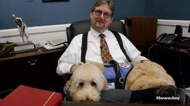 Judge Howard Sturim keeps a four-legged secret under