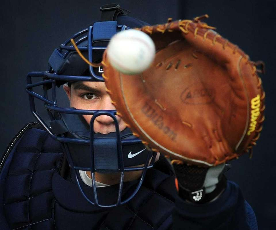 New York Yankees catcher Russell Martin at George