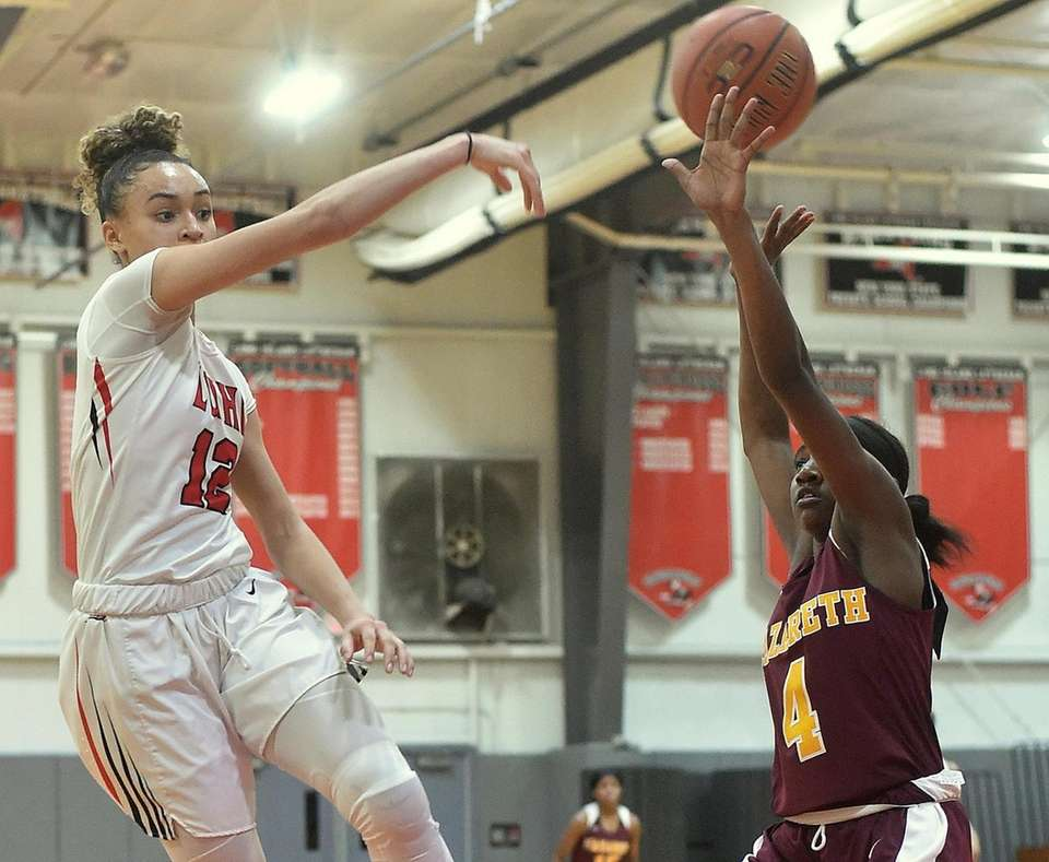 Celeste Taylor #12 of Long Island Lutheran makes