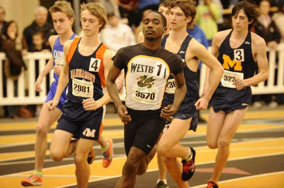 Westbury's Owen Skeete (3570) leads the pack at
