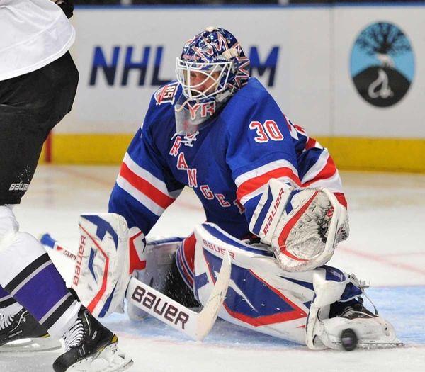 New York Rangers goaltender Henrik Lundqvist (30) makes