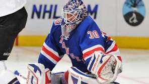 New York Rangers goaltender Henrik Lundqvist (30) makes