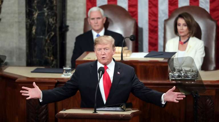 President Donald Trump delivers his State of the