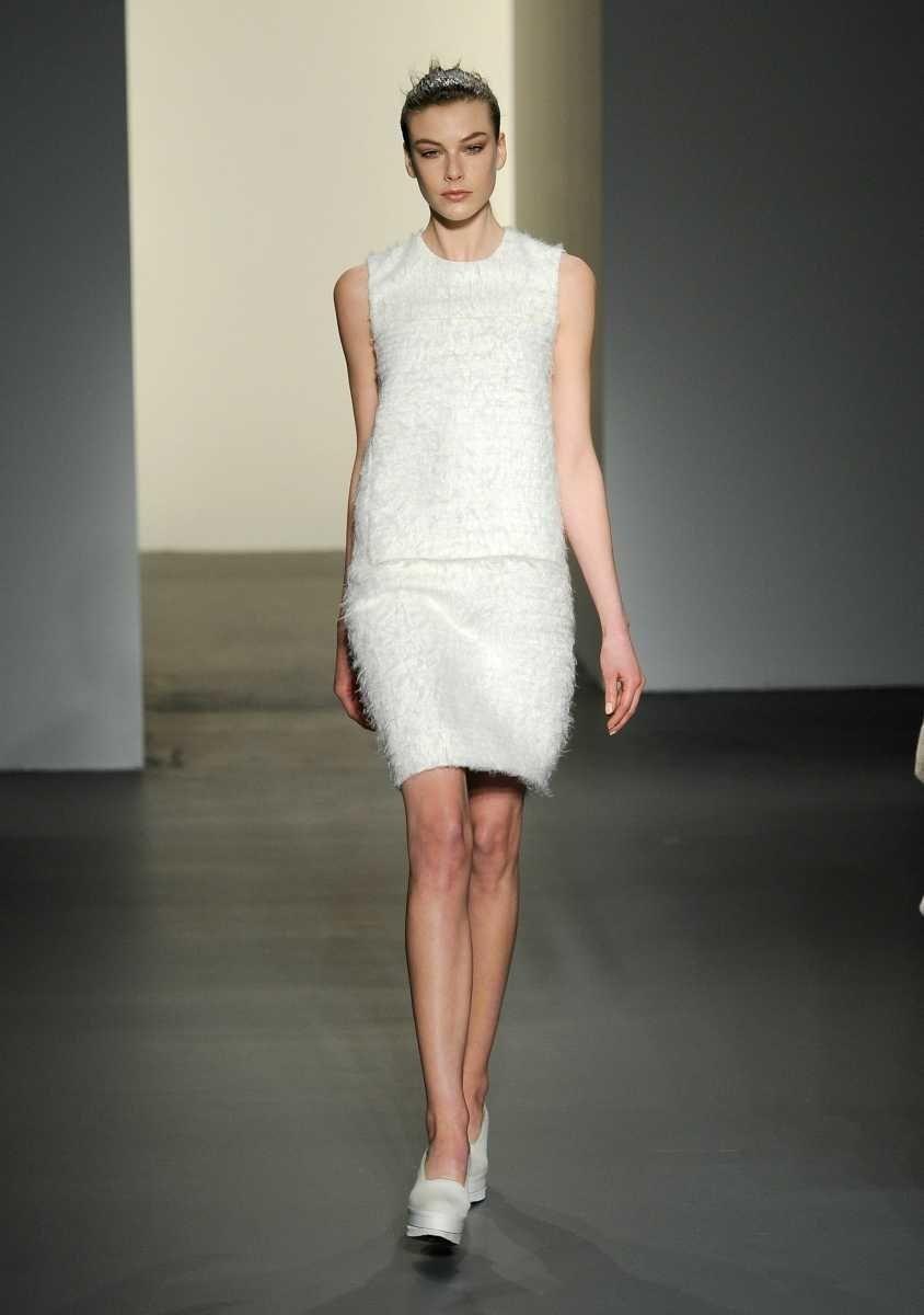 NEW YORK, NY - FEBRUARY 17: A model