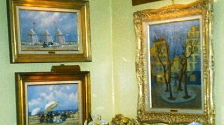 Police released photographs of 13 paintings stolen in