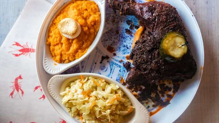 The Nashville hot chicken served with cole slaw
