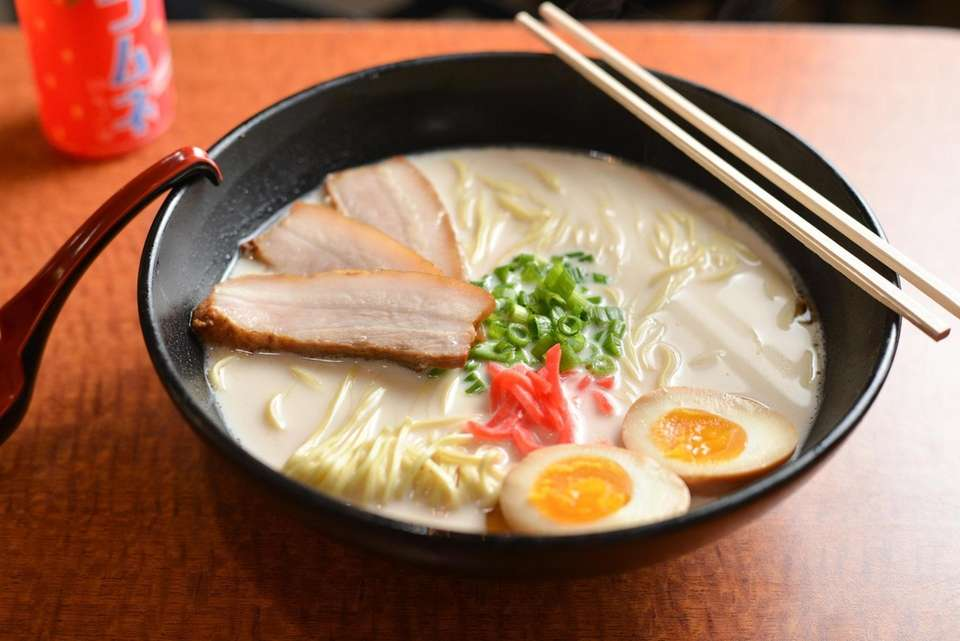 The slurp classic ramen, pork tonkotsu with slow