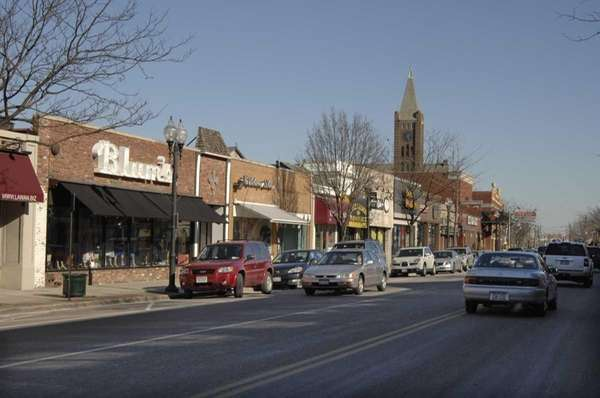 Patchogue Main Street business district in 2008.