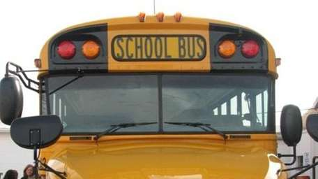 Riverhead unveiled new propane school buses Friday. (Feb.