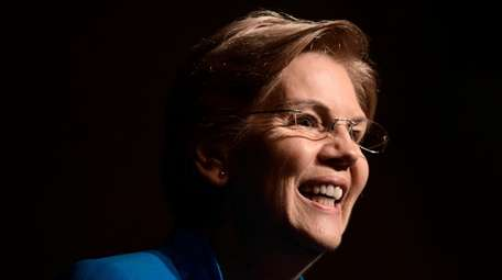 "Sen. Elizabeth Warren, D-Mass., speaks at the ""Community"