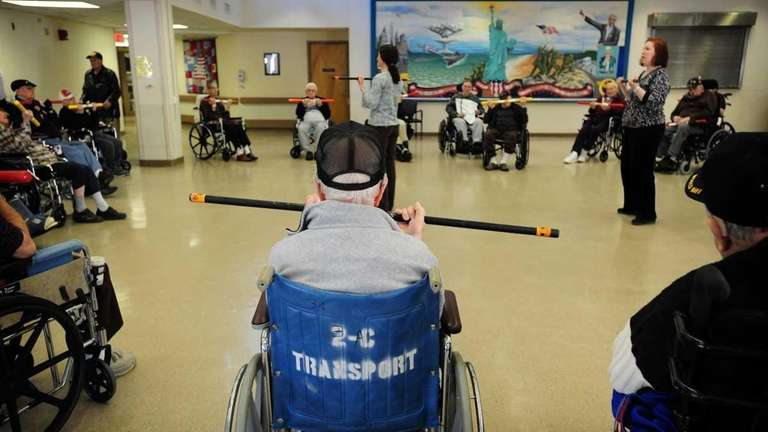 Veterans at the Long Island State Veterans Home