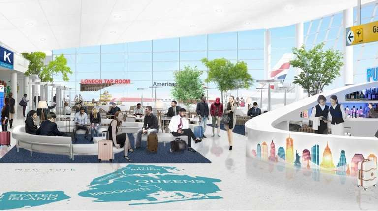 A rendering of the expanded Terminal 8 at
