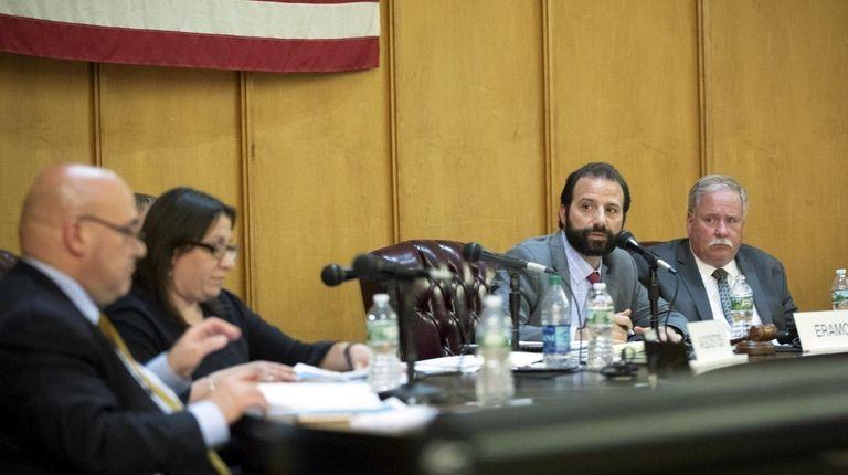 Long Beach Council President Anthony Eramo, second to