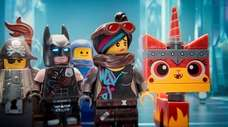 From left, characters MetalBeard, Batman, Benny, Lucy/Wyldstyle and