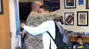 Air Force Technical Sgt. Kelvin Rodriguez surprised his