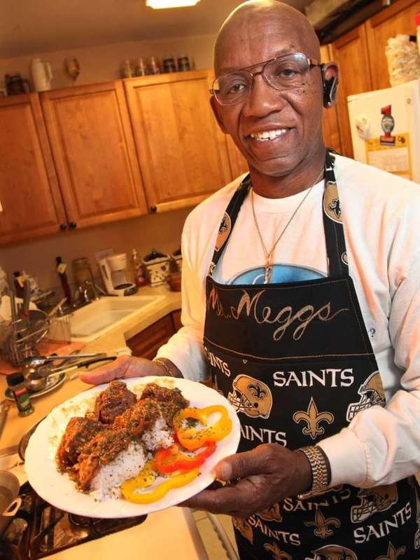 Bay Shore resident Ferdinand Meggs, a military food