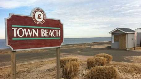 Town Beach is on North Road and overlooks