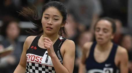 Mayu Iio of Syosset competes in the girls