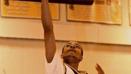 Central Islip guard Derrick Franklin #5 puts the