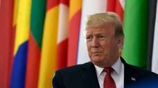 President Donald Trump is seen Wednesday at the