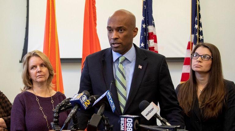 Nassau County Minority Leader Kevan Abrahams at the