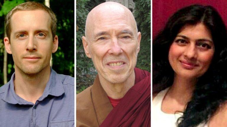 From left, David Listen, Buddhist meditation instructor and