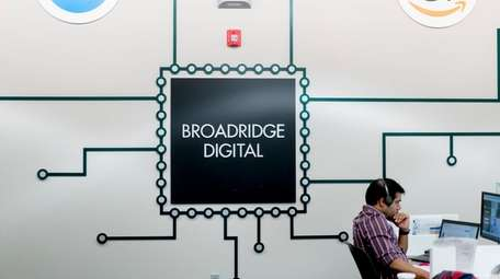 Broadridge Financial Solutions, seen here on May 3,