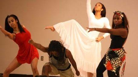 Dancers from Venette's Cultural Workshop perform a selection
