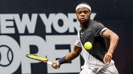 Francis Tiafoe plays in the New York Open