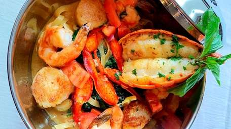 The Snapper Inn Seafood Pot, a signature dish