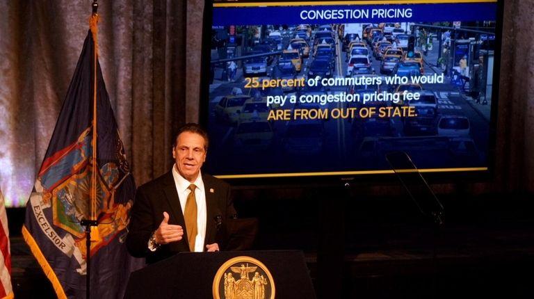 Gov. Andrew M. Cuomo advocates for congestion pricing