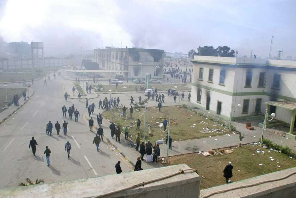 Buildings at the entrance to a security forces