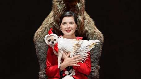 Isabella Rossellini stars with her dog in a