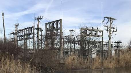 An existing LIPA substation in Montauk on Fort