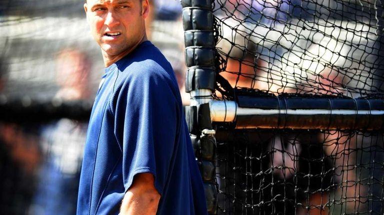 Yankees shortstop Derek Jeter at spring training in