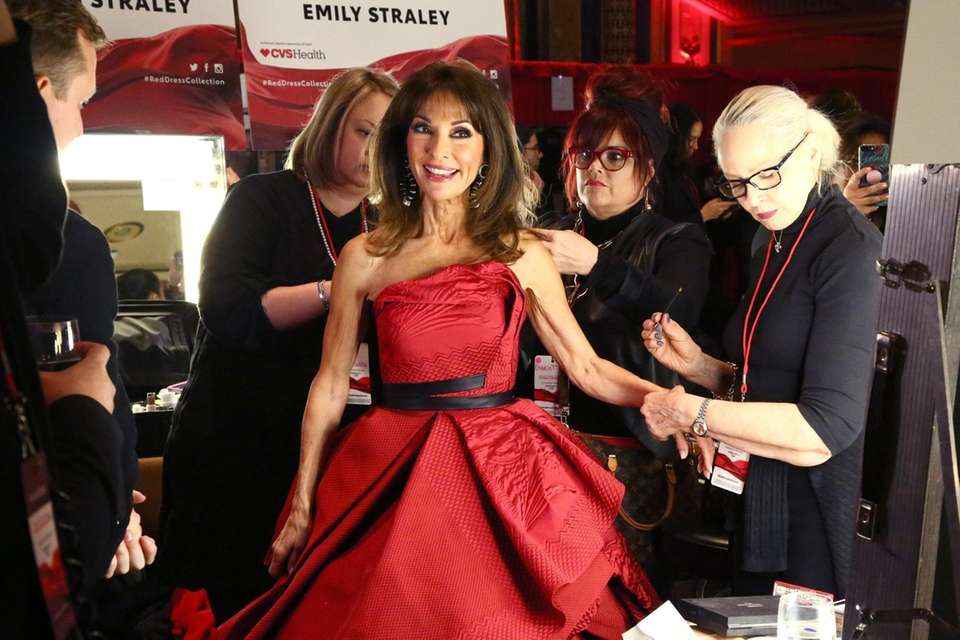 Susan Lucci backstage during The American Heart Association's