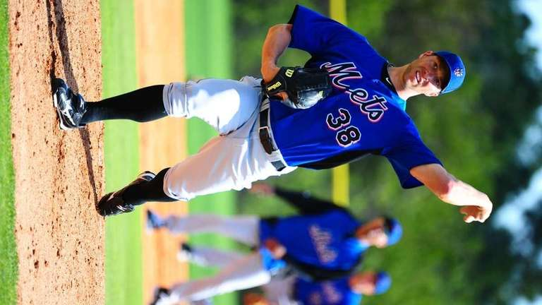 Chris Capuano during a spring training workout at