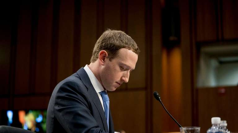 Facebook CEO Mark Zuckerberg testifies before a joint