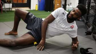 UFC fighter Aljamain Sterling, from Uniondale, prepares to